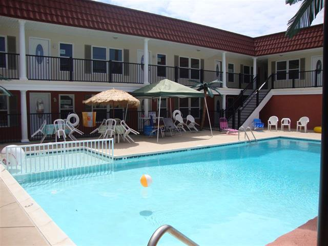 1605 Ocean Avenue #209 - Brigadoon Condos in North Wildwood offered by Island Realty Group at Wildwoodrents.com - One bedroom, one bath condo in the new Brigadoon Condos. Home offers a kitchen with cooktop, fridge, microwave, toaster, coffeemaker, . Sleeps 4, double and double sleep sofa. Amenities include pool, gas grill, outside shower, central a/c, off street parking.