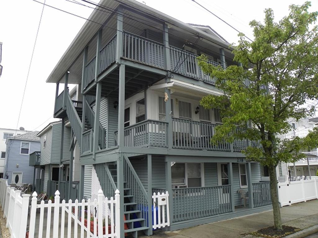 238 EAST MONTGOMERY AVENUE - UNIT 9 - WILDWOOD SEASONAL SUMMER VACATION RENTALS - Two bedroom, one bath apartment on the 3rd floor. Home has a kitchen with fridge, range, microwave, toaster, coffeemaker. Sleeps 4; 2 full. Amenities include window a/c, wifi, permit for one vehicle, shared washer/dryer, gas bbq in common area and outside shower. Wildwood Rentals, North Wildwood Rentals, Wildwood Crest Rentals and Diamond Beach Rentals in all price ranges for weekly, monthly, seasonal and weekend vacation rentals plus Wildwood real estate sales of homes, condos, vacation and investment properties in and around Wildwood New Jersey. We offer over 400 properties plus exclusive vacation homes so you can book the shore rental of your choice online and guarantee your vacation at the Shore. Rent with confidence at Island Realty Group!