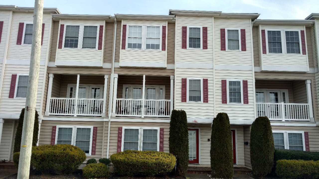 2405 SURF AVENUE - NORTH WILDWOOD SUMMER RENTALS WITH POOLS - Four bedroom, 2.5 bath townhome located on the same block as the beach and boardwalk in North Wildwood. Townhouse has a full kitchen with fridge, icemaker, range, dishwasher, disposal, coffeemaker, toaster, and blender. Amenities include central a/c, washer/dryer, wi-fi internet, balcony and two car off street parking, pool and outside shower. Sleeps 12; 2 queen, 2 full, 2 twin, and futon sleep sofa.