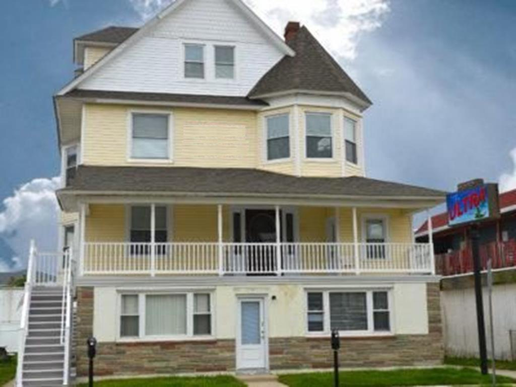 2704 ATLANTIC AVENUE - WILDWOOD SUMMER VACATION RENTALS -  Grand and stately 4 story Victorian! Main house rental is the 2nd, 3rd and 4th floor. The house sleeps 25 people. There are 8 bedrooms, 3 bathrooms, living room and kitchen. The kitchen has 2 stoves, 2 microwaves, 3 refrigerators and 2 picnic tables. There are 2 large decks out back and a large front porch. Amenities include wifi, window a/c, washer/dryer and off street parking for 7 vehicles! The house is 1½ blocks to beach and boardwalk and walking distance to many of the area restaurants. Home has a retro Wildwood feel and would be ideal for multi family rentals & reunions! Pets possibly considered. Wildwood Rentals, North Wildwood Rentals, Wildwood Crest Rentals and Diamond Beach Rentals in all price ranges for weekly, monthly, seasonal and weekend vacation rentals plus Wildwood real estate sales of homes, condos, vacation and investment properties in and around Wildwood New Jersey. We offer over 400 properties plus exclusive vacation homes so you can book the shore rental of your choice online and guarantee your vacation at the Shore. Rent with confidence at Island Realty Group! Visit www.wildwoodrents.com to book online or call our office at 609.522.4999. Our office at 1701 New Jersey Avenue in North Wildwood is open 7 days a week!