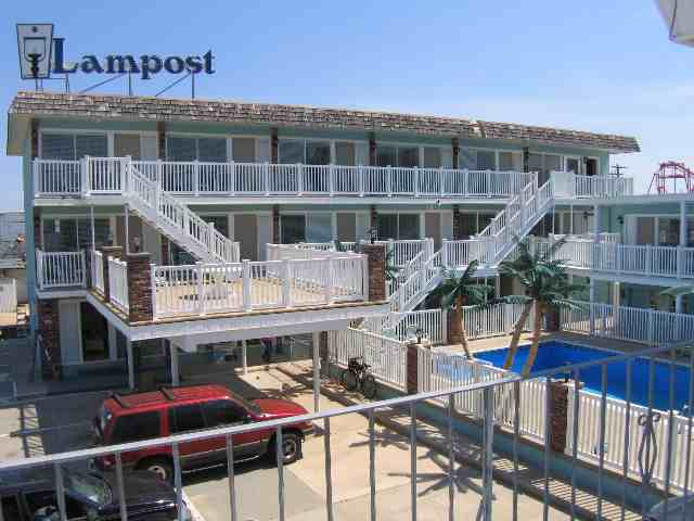 442 EAST 21ST AVENUE - LAMPOST CONDOS #110 - NORTH WILDWOOD SUMMER VACATION RENTALS AT THE BOARDWALK - You can't get much closer than this to the beautiful beach and boardwalk of North Wildwood. One bedroom, one bath condo located beach block at the Lampost condominiums. Home offers a kitchen with stovetop, fridge, microwave, toaster and coffeemaker. Sleeps 6: queen, twin/twin bunk, and full sleep sofa. Amenities include pool, outside shower, one car off street parking, coin op washer/dryer, and wall a/c. North Wildwood Rentals, Wildwood Rentals, Wildwood Crest Rentals and Diamond Beach Rentals in all price ranges for weekly, monthly, seasonal and weekend vacation rentals plus Wildwood real estate sales of homes, condos, vacation and investment properties in and around Wildwood New Jersey. We offer over 400 properties plus exclusive vacation homes so you can book the shore rental of your choice online and guarantee your vacation at the Shore. Rent with confidence at Island Realty Group! Visit www.wildwoodrents.com to book online or call our office at 609.522.4999. Our office at 1701 New Jersey Avenue in North Wildwood is open 7 days a week!