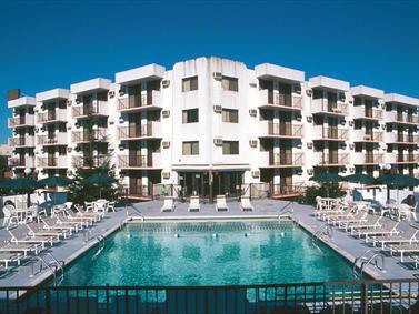 diplomat condo and hotel rentals in wildwood new jersey - the diplomat is a large resort condominium located at 225 E wildwood avenue located only 2 blocks from the beach and boardwalk in Wildwood. There is a large pool, sundeck and arcade on the property. Call 609.522.4999 today or visit www.wildwoodrents.com to reserve your summer rental at Island Realty Group