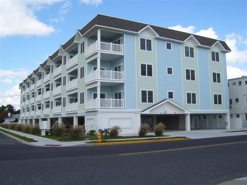 WILDWOOD CREST RENTALS at HIALEAH CONDOMINIUMS - 6210 OCEAN AVENUE #207 - Four bedroom, 3 bath vacation home located steps to the Beach in Wildwood Crest. Vacation home offers pool, hot tub, outside shower, elevator, balcony, grill, wifi, central a/c, washer/dryer, and 2 car off street parking. Sleeps 9; 2 queen, full, twin, and sleep sofa. Ocean view!